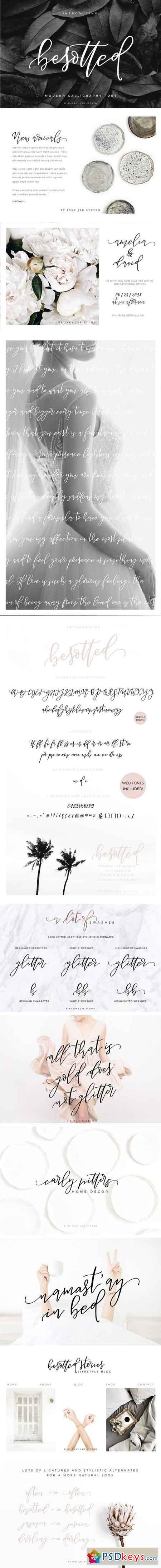 Besotted Modern Calligraphy Script 2059608