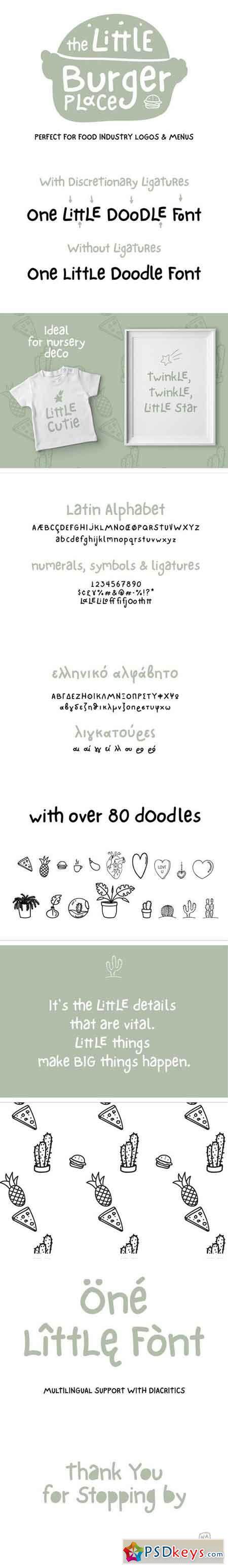 One Little Font 1505137