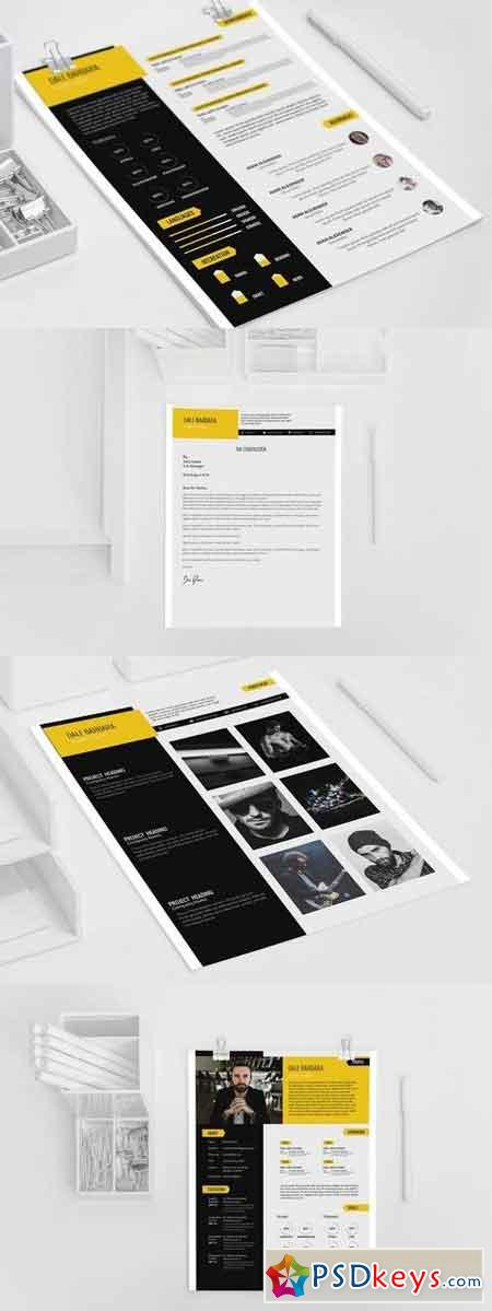 Modern Resume Set Template