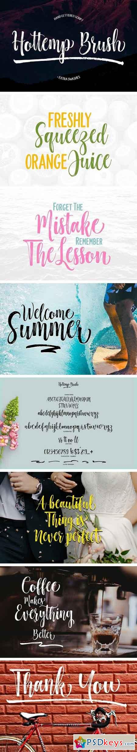 Hottemp Brush - Font Duo 1949042
