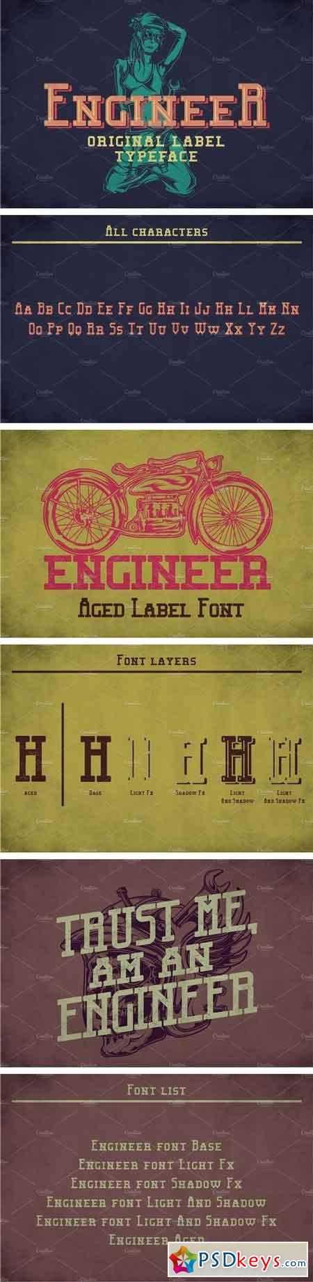 Engineer Modern Label Typeface 1999391