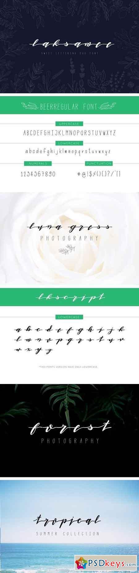 Laksamee Script Duo Font 1509802