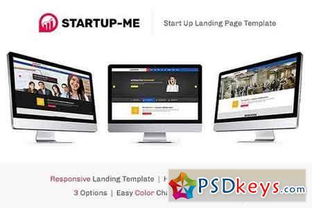 StartUp-Me HTML Landing Page 1510346