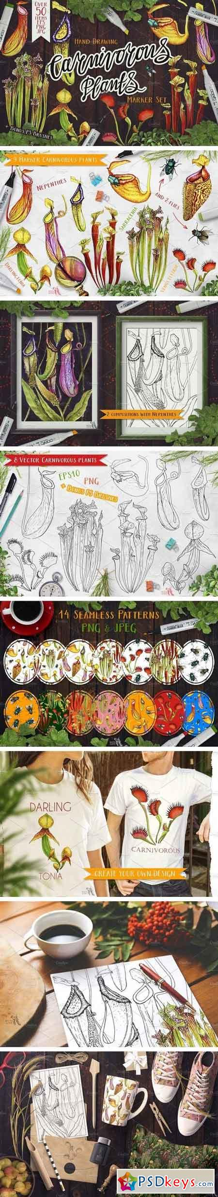 Carnivorous Plants Marker Set 1512331