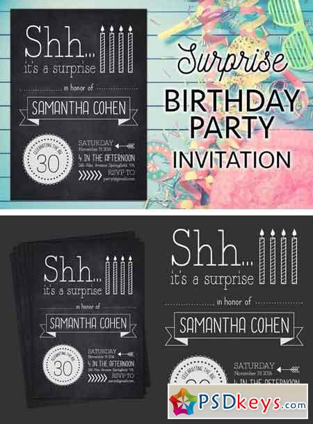 A Surprise Birthday Party Invite 1511475