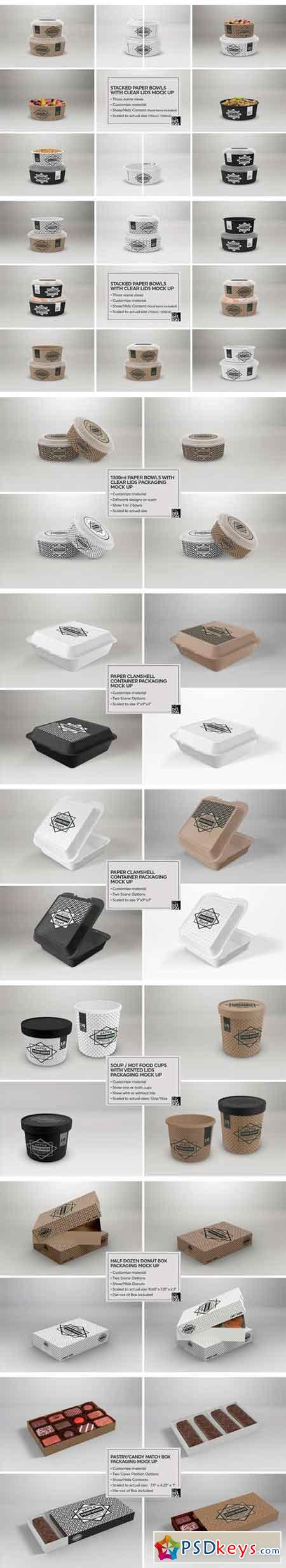 VOL.8 Food Box Packaging Mock Ups 2088334