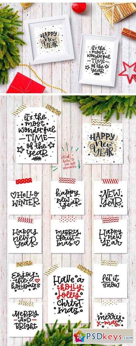 Christmas and New Year Lettering 2163453