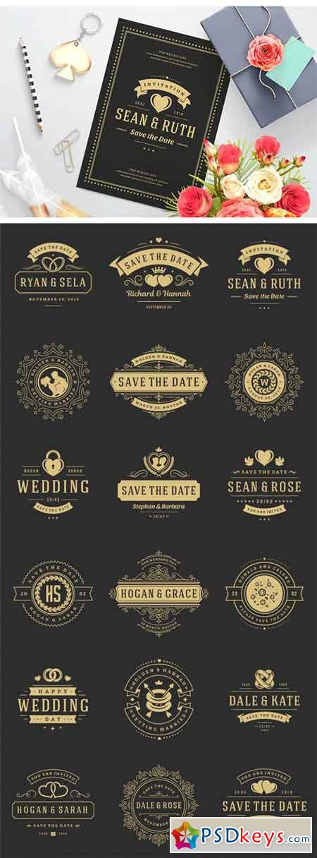 18 Wedding Logos and Badges 219973
