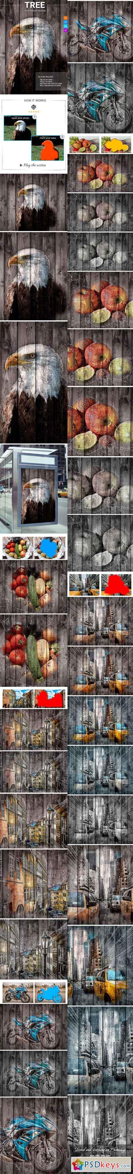 Tree Photoshop Action 21358588