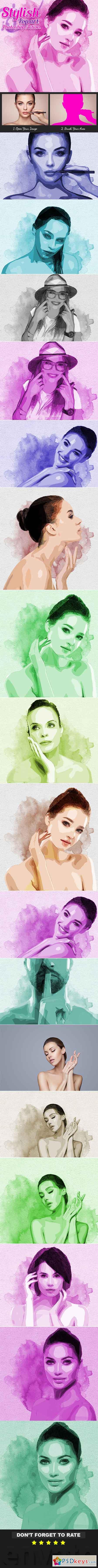 Stylish Pop Art Photoshop Action 21351891
