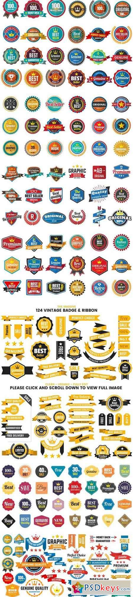 1046 VINTAGE BADGE & RIBBON 2227173