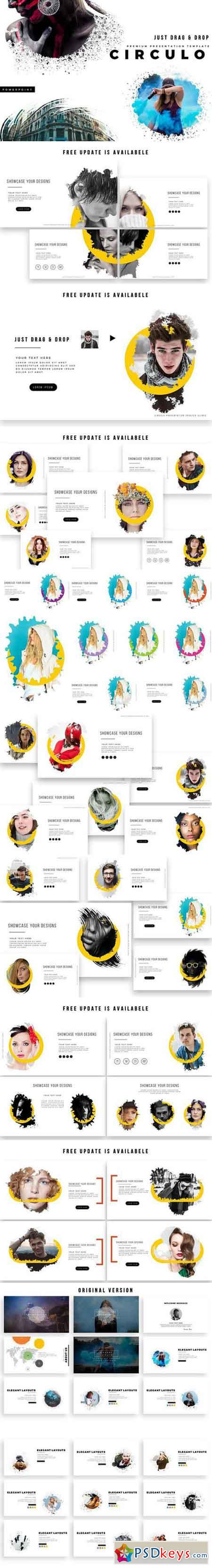 CIRCULO PowerPoint Template 1757474