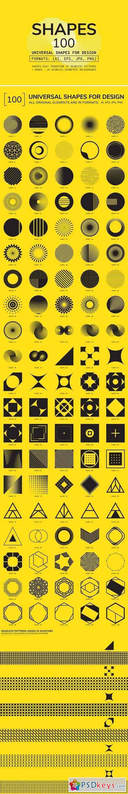 100 Geometric Shapes. Part 4 2232594