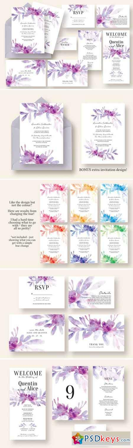 Dreamy Floral & Leaves Wedding Suite 2257906