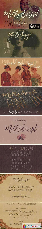 Melly Script Font Duo 2228359