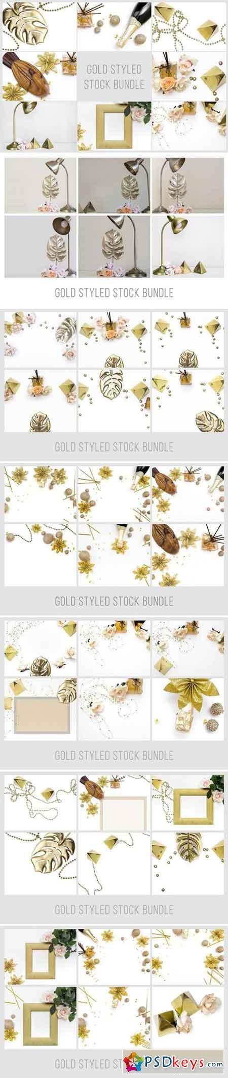 Gold Styled Stock Bundle 2228406