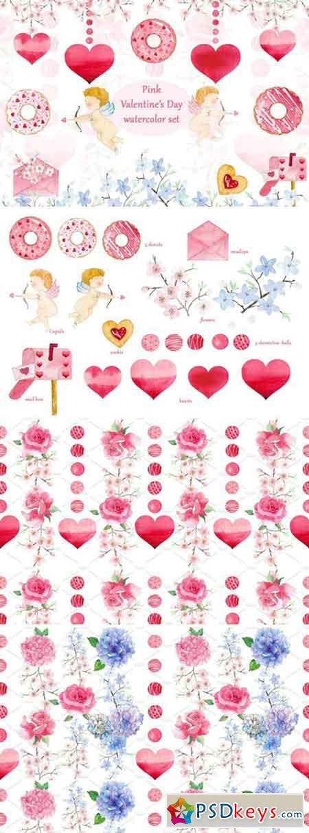 Pink Valentine's Day set 2232552