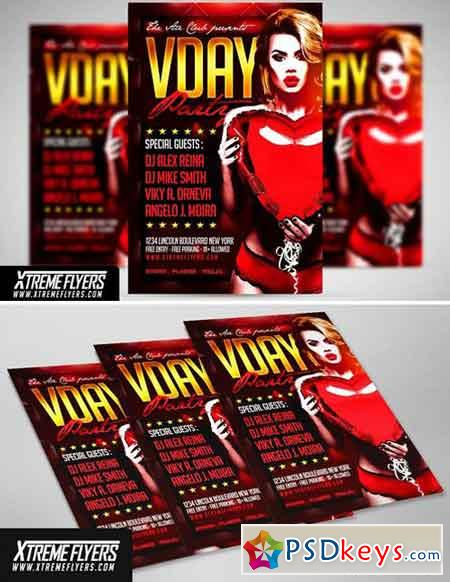 Valentines Day Flyer Template 1814847