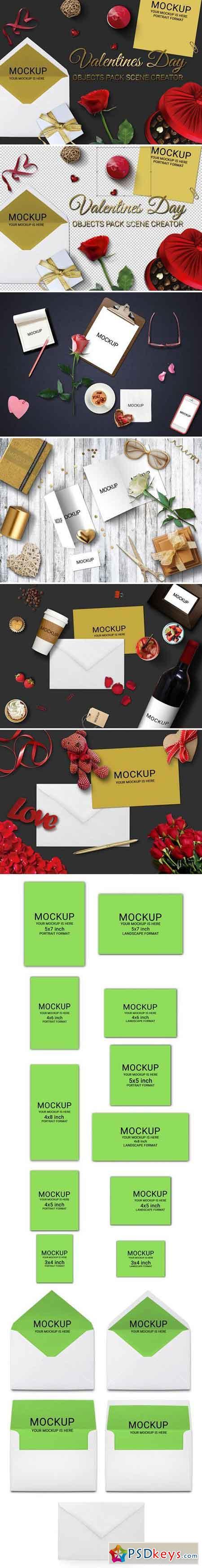 Valentines Day Scene Creator MockUp 2257426