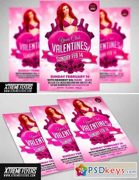 Valentines Flyer Template 1808174