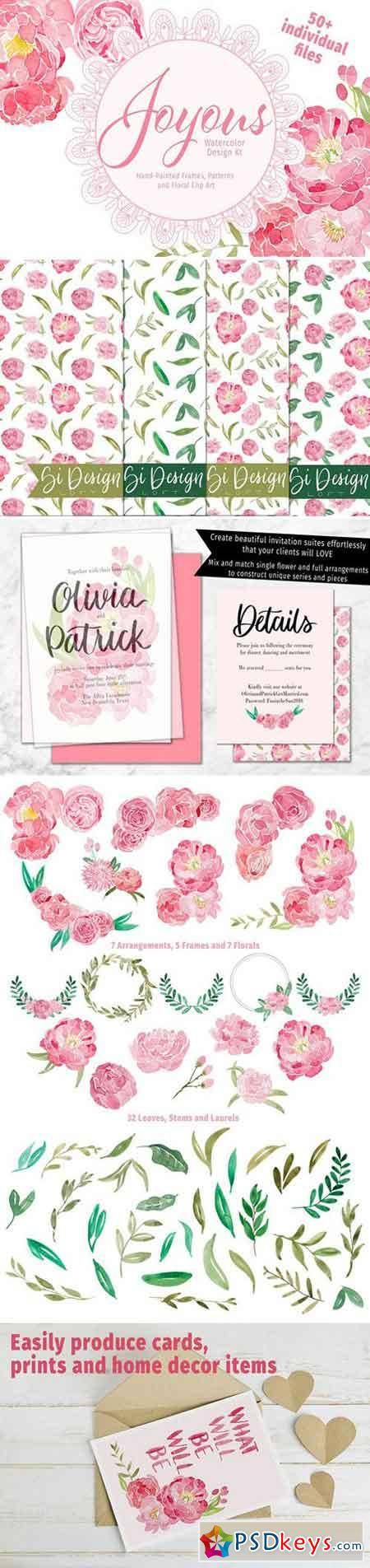 Joyous Watercolor Design Kit 2254968