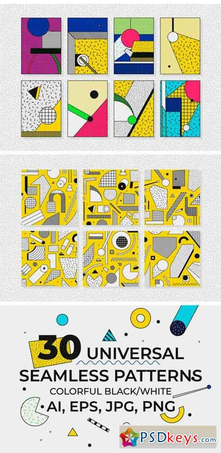 302 Illustrations + Elements + Patterns 2295426