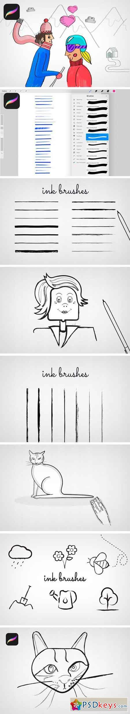 Procreate Ink Brushes 2317675