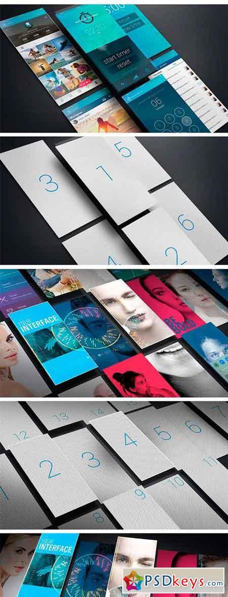iPhoneX Floating UI Mockups 2295147