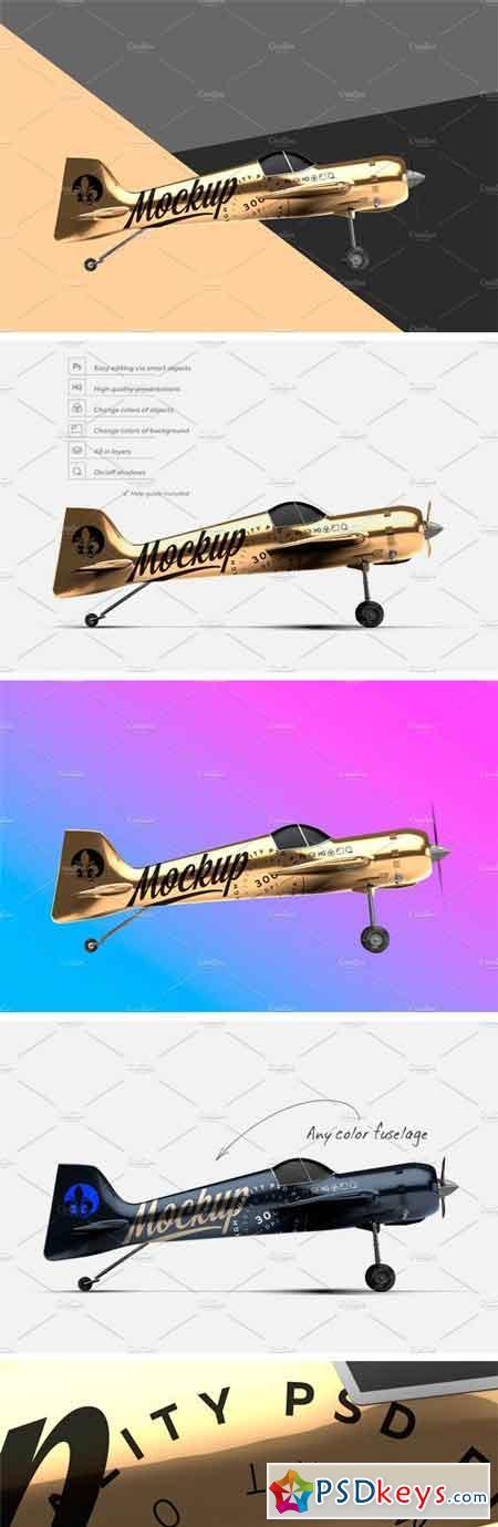 GOLD AEROBATIC AIRCRAFT MOCKUP 2267588