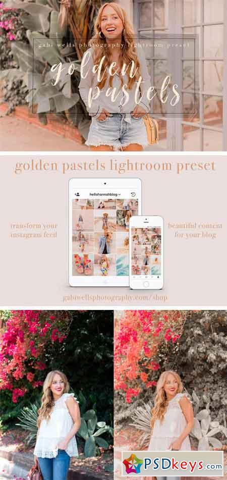 Golden Pastels Blogger Preset 2316880