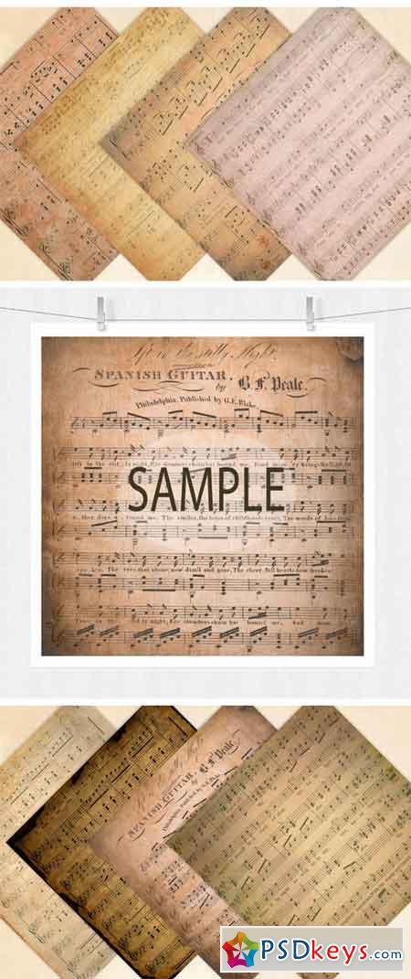 Sheet Music Digital Paper 2198458