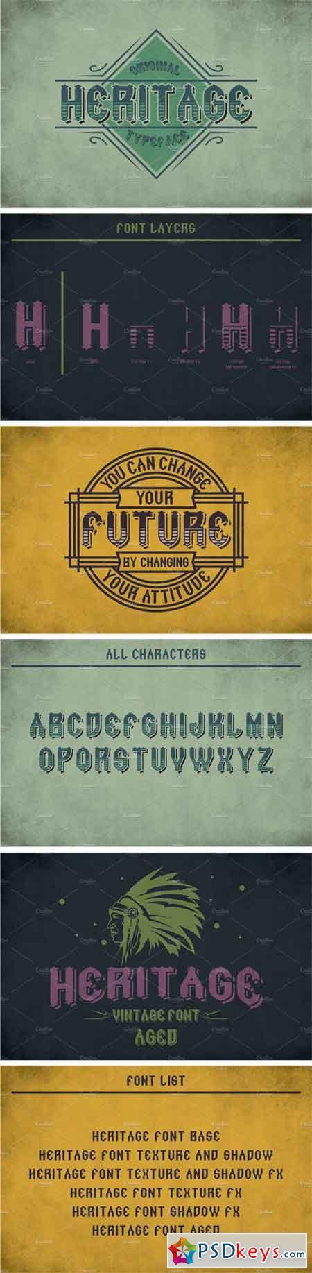 Heritage Vintage Label Typeface 2268543