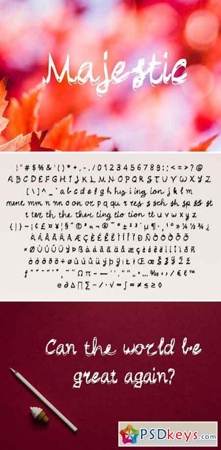 Majestic - Handwritten Script Font 2176736
