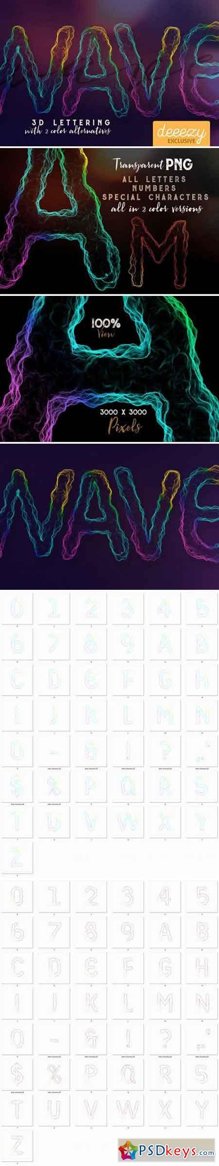 Wave 3D Lettering