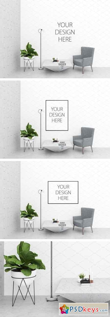 Interior mockup -poster mockup 1539985