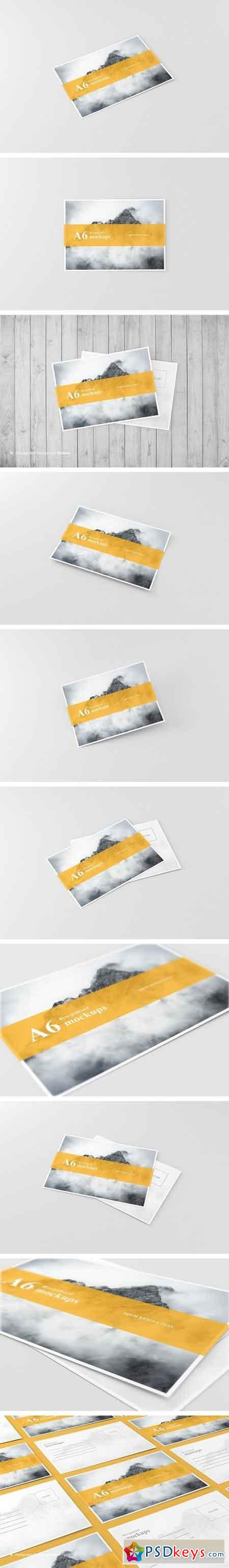 A6 Flyer Postcard Mockup 1541516 Free Download Photoshop Vector