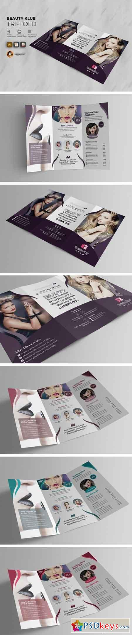 Popular Beauty Salon Tri-Fold 1538260