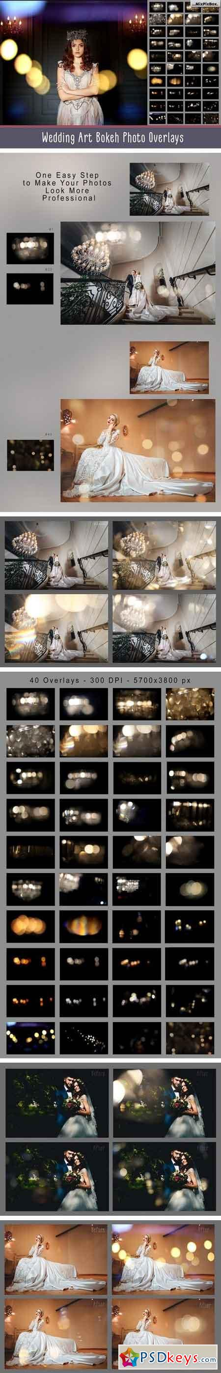 Wedding Art Bokeh Photo Overlays 1520527