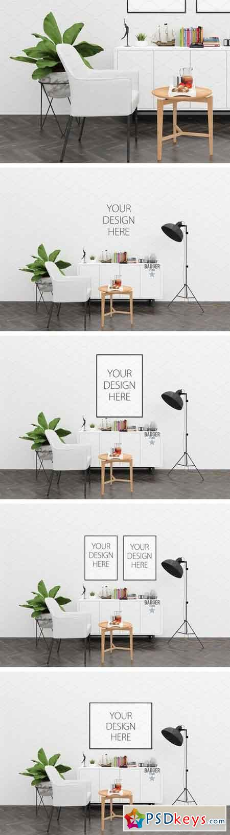 White wall mockup - interior mock up 1540247