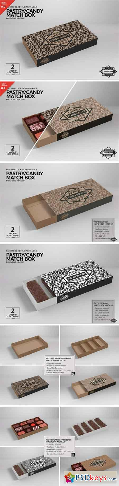Match Box Style Packaging MockUp 2181811