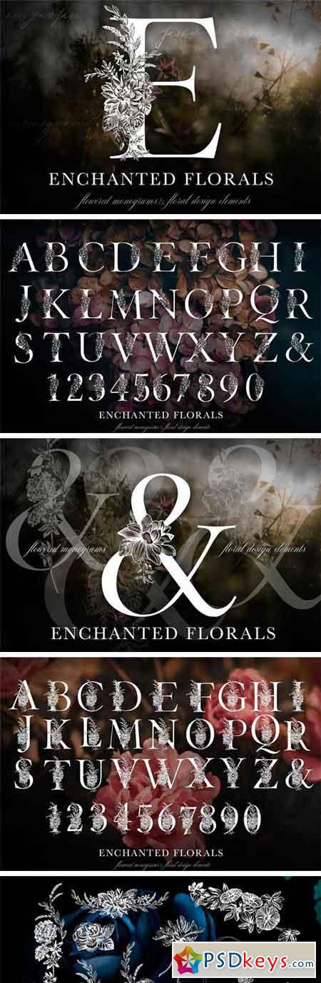 Enchanted Florals Monogram Set 2248583