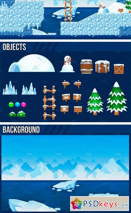The Arctic - Platformer Tileset 2272748 » Free Download Photoshop