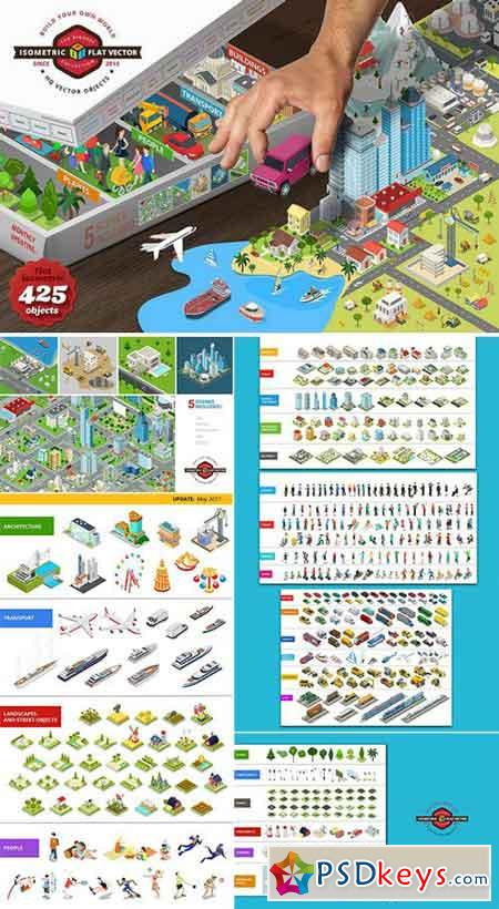 Isometric flat world collection v.1 410087