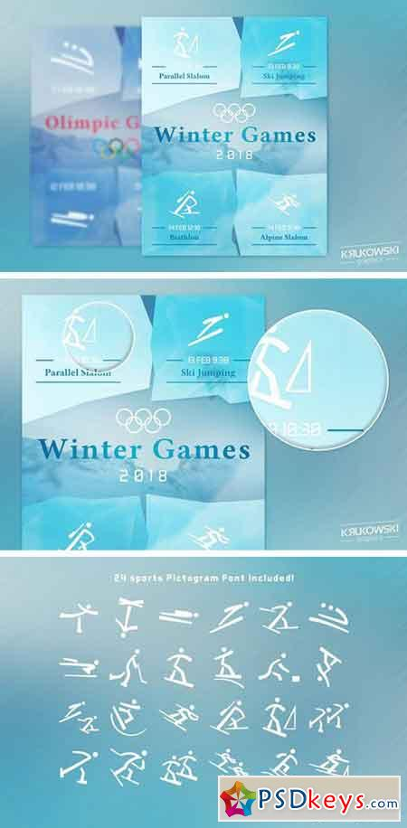 Winter Games 2018 Sports Flyer 2272915