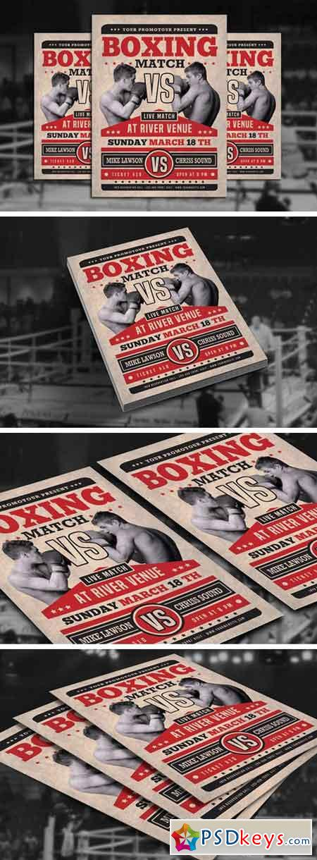 Boxing Match Flyer 2300641