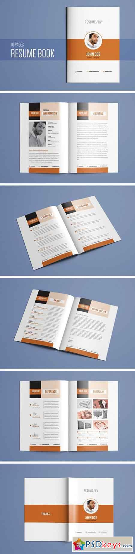 Resume Booklet Template Vol. 01 2161134