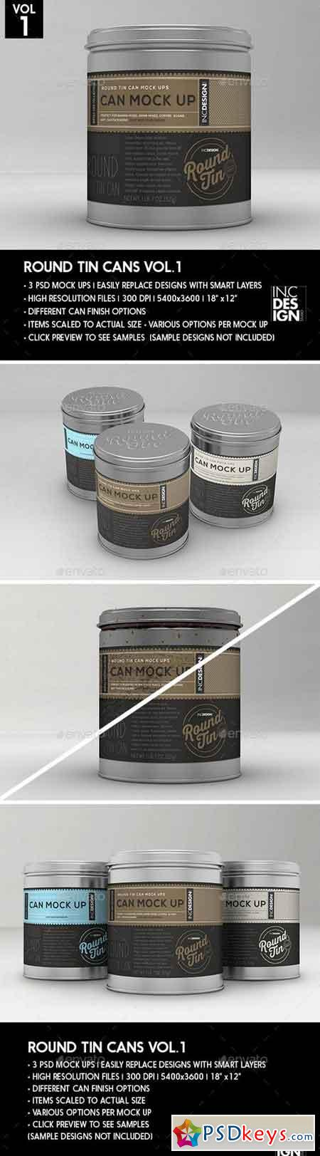 Round Tin Cans Vol.1 Packaging Mock Ups 18173598