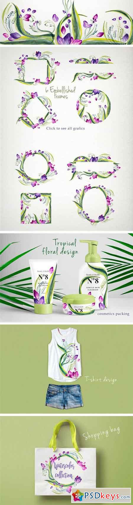 Tropical Watercolor Collection 2316634