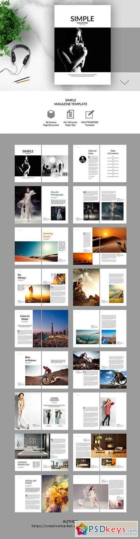 Simple Magazine Template 2268512