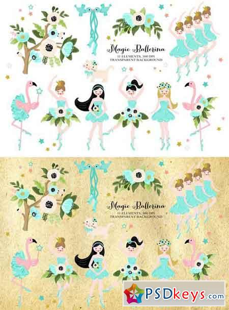 Magic Ballerina Dancer Clip art 2301268